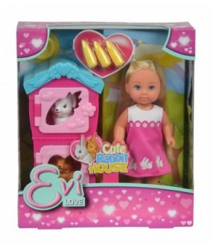 Красивая маленькая кукла Эви и домик кроликов, Simba