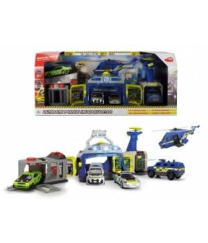 """3719011 Ігровий набір """"Управління поліції """" з 3 машинами та гелікоптером, зі звук. та світл. еф. 3+"""