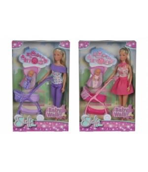 5733067 Лялька Штеффі та колиска з малюком, 2 види, 3+