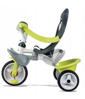 741100 Дитячий металевий велосипед з козирком, багажником та сумкою, зелений, 10 міс.+