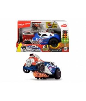 """3764007 Швидкісний автомобіль """"Стрибок з полум'я"""" з функцією їзди на задніх колесах, зі звук. та світл. ефектами, довжина 24 см, 3+"""