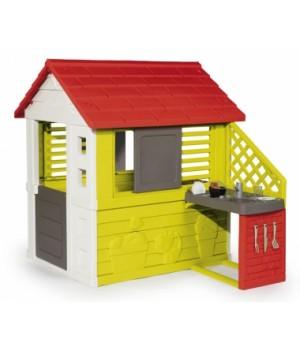 Игровой домик для детей с кухней, от 2 лет, Smoby