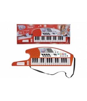 6834252 Музичний інструмент Клавішна гітара, 32 клавіші, 19 демо мелодій, 4 інструменти, 8 ритмів, 54 см.