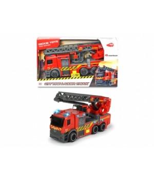 """Пожарная машина игрушка """"Мерседес"""" с телескопической лестницей, свет, звук, 23 см, DICKIE TOYS"""