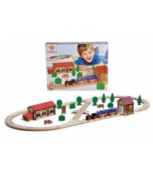 Деревянная железная дорога детская, длина 360 см, Eichhorn