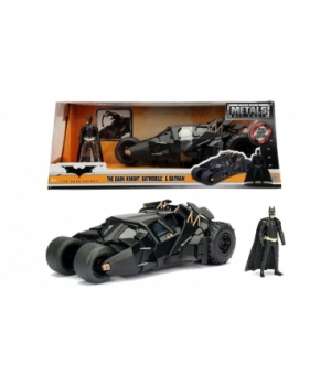 "253215005 Машина металева Jada ""Бетмен (2008)"" Бетмобіль Темного Лицаря з фігуркою Бетмена, масштаб 1:24, 8+"