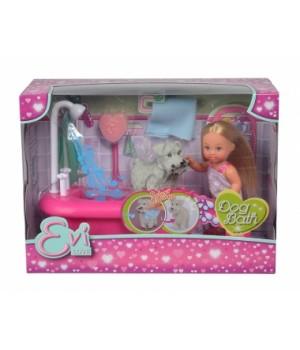 5733094 Лялька Еві та набір для купання песика, з функцією зміни кольору, 3+