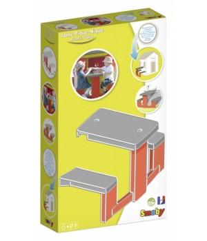 Столик для пикника с лавочками для игрового дома, Smoby