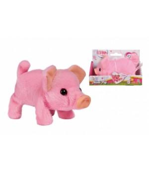 """5893378 М'яка іграшка CCL """"Свинка Міні Піг"""", що ходить, хрюкає та виляє хвостиком, 14 см., 3+"""