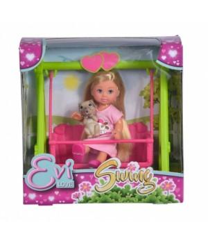 Игрушка маленькая кукла Эви с качелей, Simba