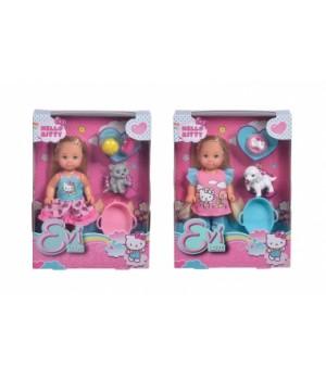 Маленькая игрушка кукла Эви с питомцем, Simba