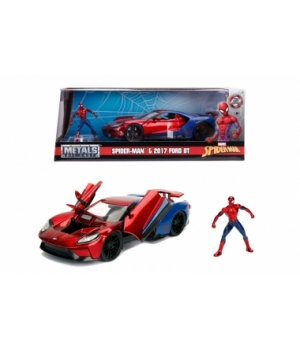 "253225002 Машина металева Jada ""Марвел. Людини-Павук"" Форд GT (2017) з фігуркою Людини-Павука, масштаб 1:24, 8+"