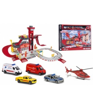 2050019 Ігровий набір Majorette Рятувальна станція с 5 машинками, 3+