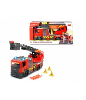 """Детская пожарная машина с водой """"Сканія"""", свет, звук, телескопическая лестница, 35 см, DICKIE TOYS"""