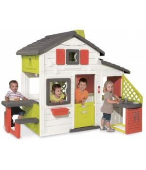Большой детский домик для детей, пластиковый, с чердаком, от 3 лет, Smoby