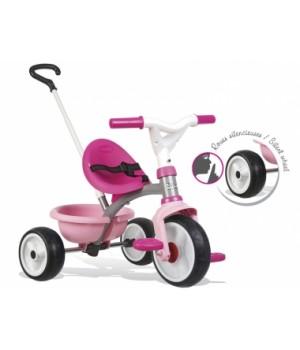 740327 Дитячий металевий велосипед Бі Mуві з багажником, рожевий, 15міс.+