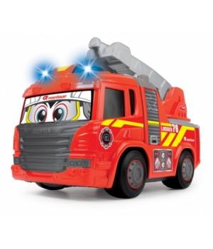 Пожарная машина игрушка для мальчиков «Хеппи. Скания» с лестницей, свет, звук, 25 см, DICKIE TOYS