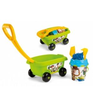 Тачка детская для игр с песком, зеленая, Smoby