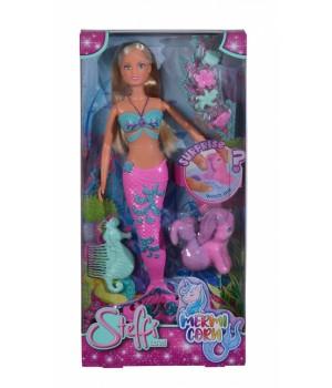 Кукла русалка, с подводным единорогом, который меняет цвет, SIMBA TOYS