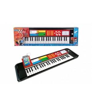 Детское пианино, 49 клавиш, 69х19 см, Simba