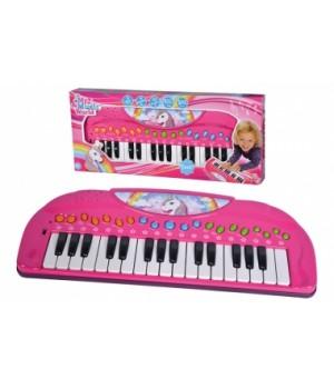 """6832445 Музичний інструмент """"Клавішні. Єдиноріг"""", 32 клавіші, 8 мелодій, 4 ритми, 4 інструменти, 3+"""