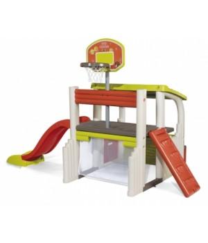 Детский игровой комплекс с горкой (баскетбол,футбол, стенка), Smoby
