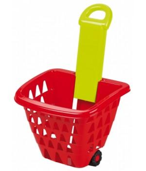 001232 Кошик для супермаркету на колесах зі складаною ручкою, 18міс.+