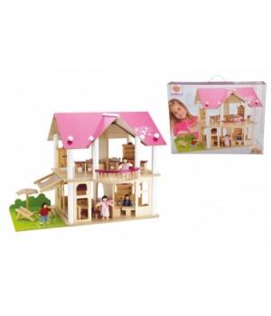 Кукольный домик с куклами, 27 аксессуаров, Eichhorn