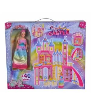 Кукольный домик замок Штеффи, 40 аксессуаров, SIMBA TOYS