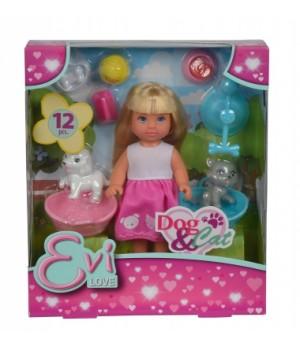 Красивая маленькая кукла Эви с домашним любимцем, Simba
