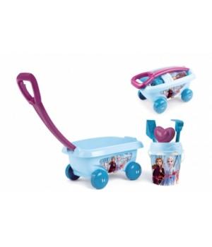 Тачка детская для игр с песком, Холодное Сердце Frozen, Smoby