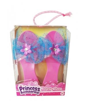 Розовые туфельки с голубым бантом для маленькой принцессы