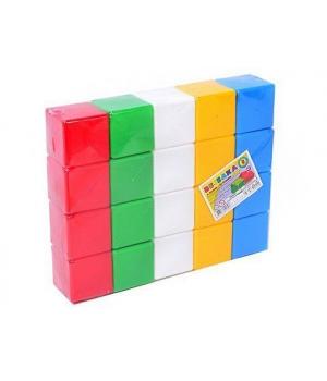 """Детские кубики цветные """"Радуга 3 ТехноК"""" (20 кубиков)"""
