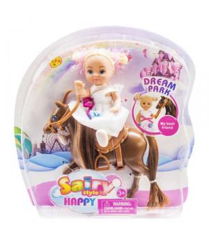 """Игрушка Кукла """"Defa"""" на гнедой лошадке 8410"""