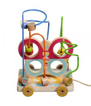 """Деревянная игрушка лабиринт каталка """"Бабочка"""" на веревочке, Lucy&Leo"""