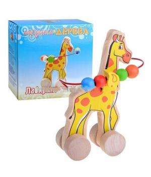 Лабиринт-каталка деревянная Жираф, Д358