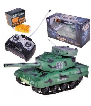 Игрушка Танк на радиоуправлении зеленый. 9344