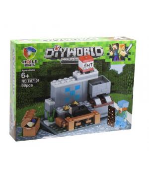 """Конструктор """"Minecraft: загон"""", 99 дет TM7104"""