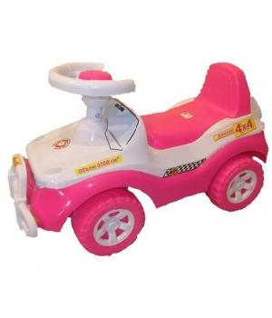 Автомобиль джип каталка толокар, розовый, для девочки, Орион