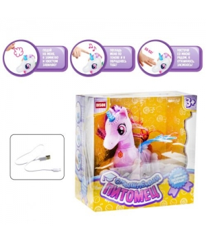 """Интерактивная игрушка """"Смышлённый питомец: единорог"""" (розовый) E5599-8"""