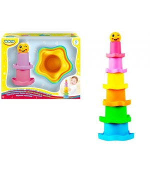 Игрушка развивающая пирамидка, радужная, BeBeLino