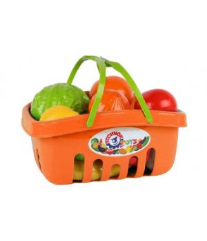 Игрушечные овощи и фрукты для детей, в корзине (оранжевый)