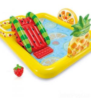 Детский бассейн с горкой Интекс Веселые фрукты