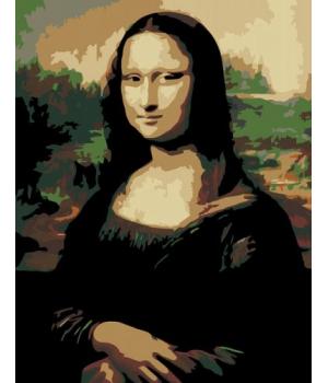 """Картина по номерам """"Джоконда"""" ★★☆ N00013103 35х45 см"""