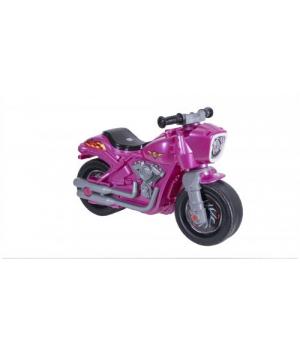 Беговел Мотоцикл 2-х колесный розовый 504_Р