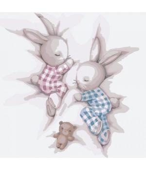 """Картина по номерам """"Сладкие сны 2"""" ★★★ КНО2335 30х30 см"""