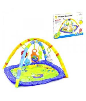 Детский коврик с игрушками для новорожденных, с дугами, Hen Run Toys