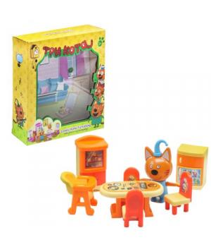 Кот Компот игрушка, Три кота, игровой набор Столовая