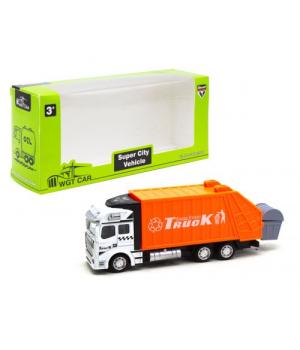 """Машинка мусоровоз """"Super City Vehicle"""", оранжевый 2211-1 A"""