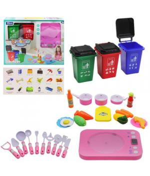 Детский игровой набор посуда с контейнерами, розовый